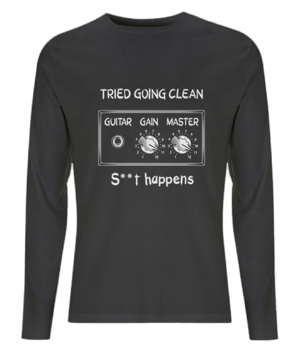 Going Clean Long Sleeve Tee - Black